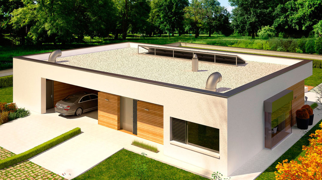 на фото плоская крыша