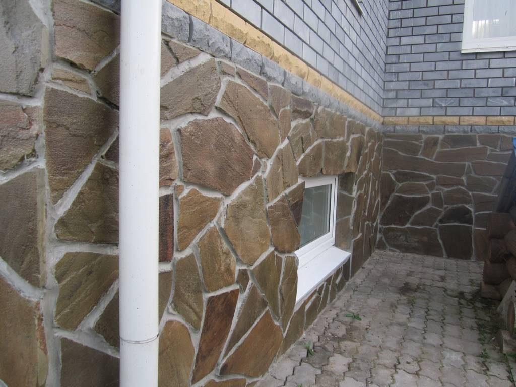 облицовка фундамента натуральным камнем